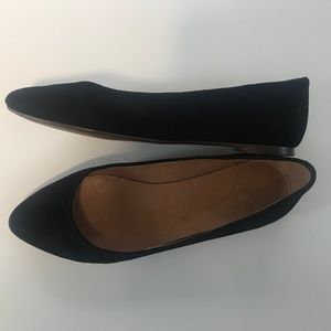 Black Suede Madewell Flats